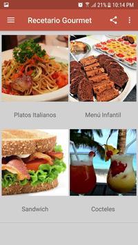 Recetario Gourmet screenshot 1