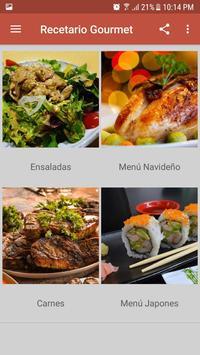 Recetario Gourmet screenshot 2