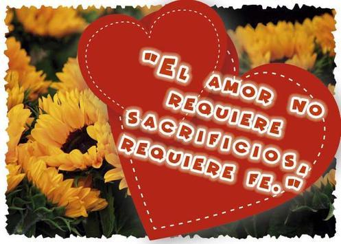 Frases de amor con girasoles poster