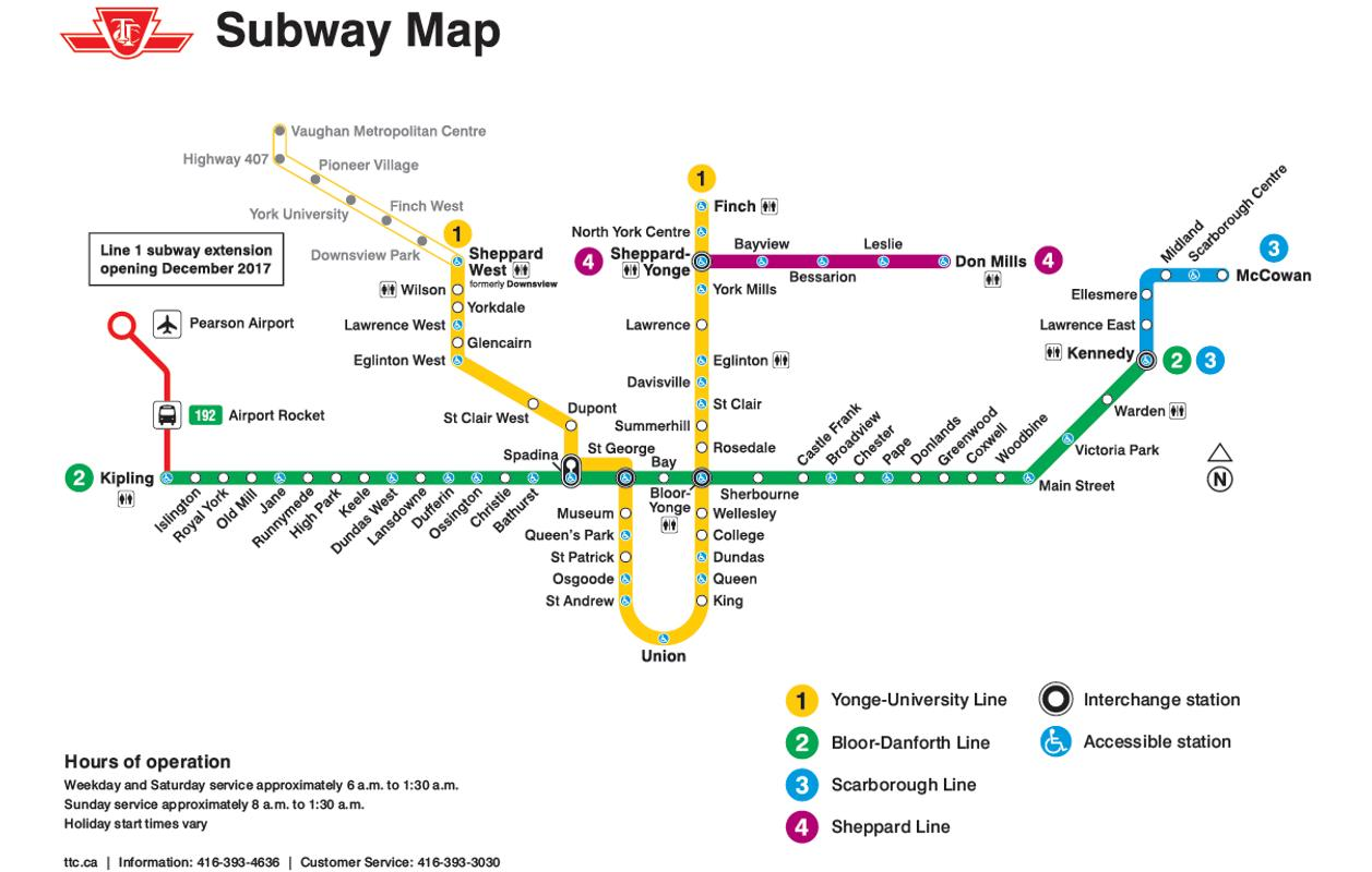 Toronto Subway Map 2019 For Android Apk Download