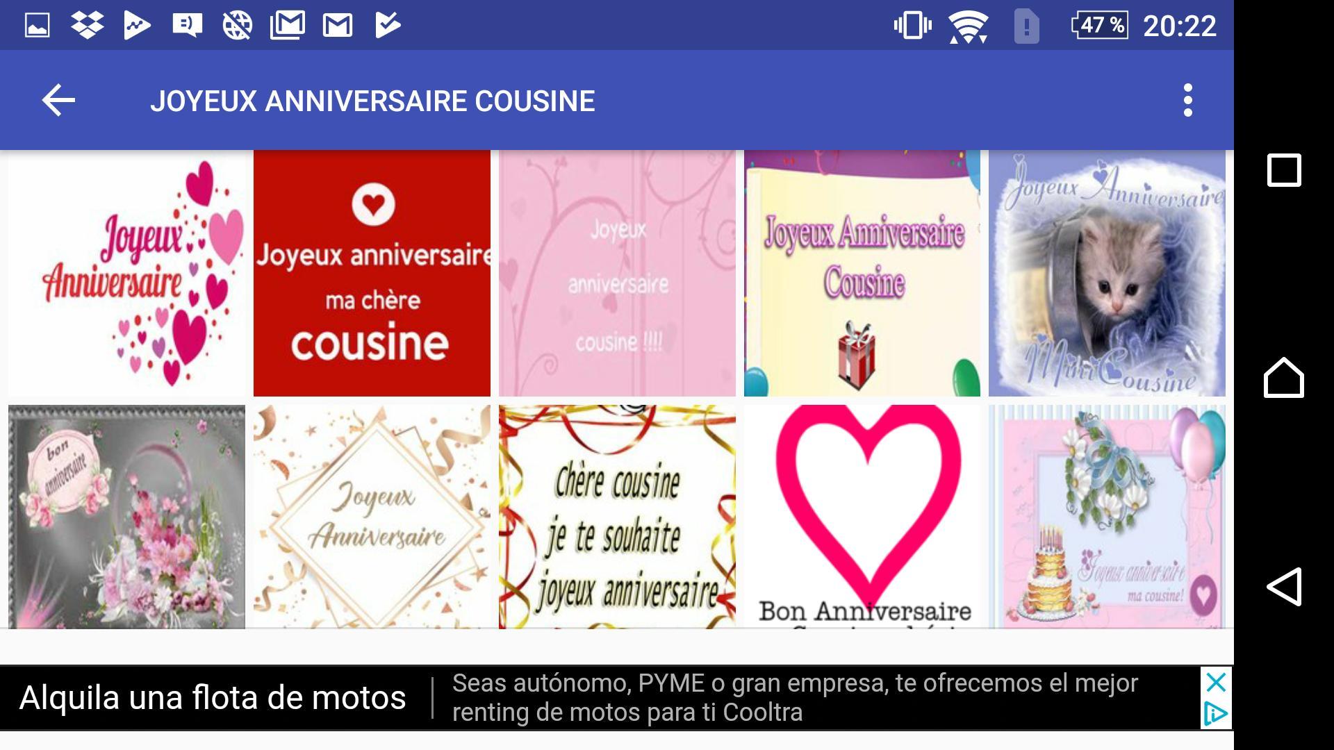 Joyeux Anniversaire Cousine For Android Apk Download