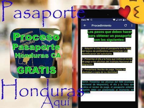 🛃🇭🇳Proceso de Pasaportes Honduras🛄Gratis🛩️ screenshot 9