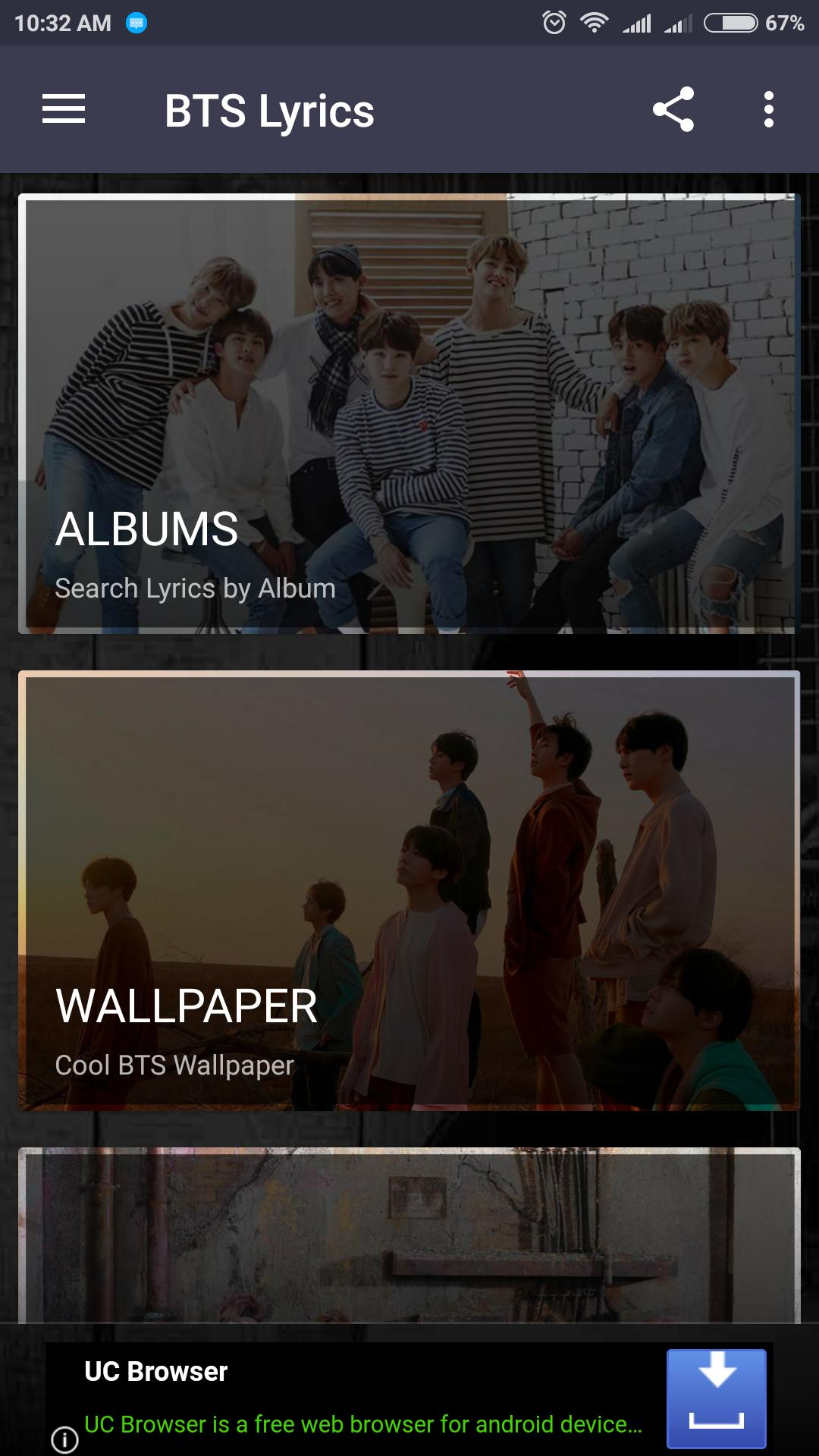 BTS Lyrics for Android - APK Download