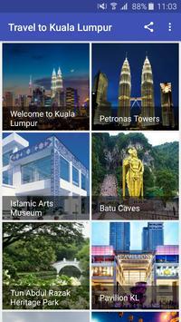 Travel to Kuala Lumpur poster