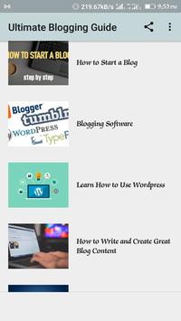 Blogging Guide poster