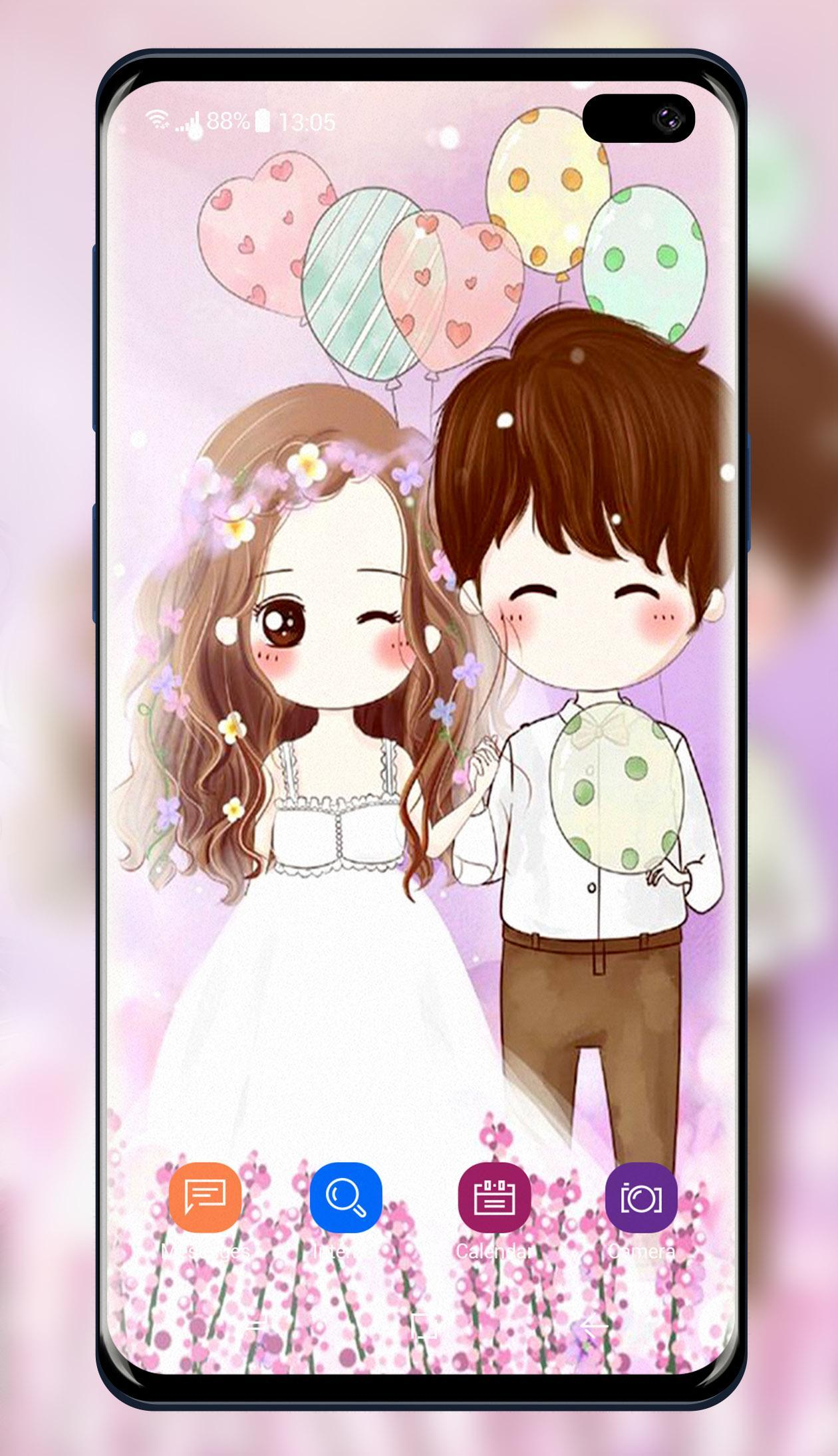 Cute Cartoon Couple Wallpaper For Android Apk Download