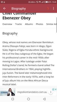 Ebenezer Obey's Music screenshot 2