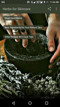 Herbs for Skincare poster