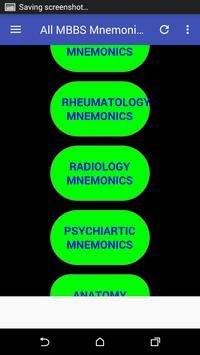 All Medical Mnemonics screenshot 1