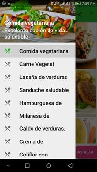 Comidas vegetarianas poster