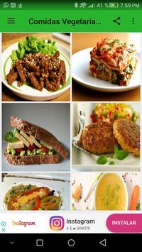 Comidas vegetarianas screenshot 1