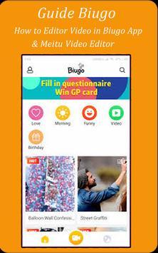 New Guide Biugo, Meitu & PicSay Pro Late Edition screenshot 1