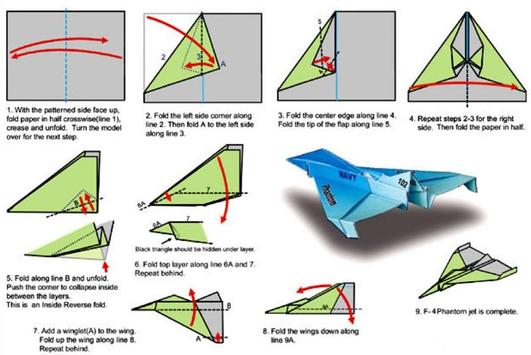 Paper Airplane Tutorial poster