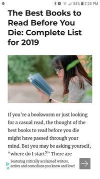 Book Reading News and Reviews screenshot 1