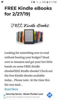 Kindle News - News and Deals for Amazon's Kindle screenshot 1