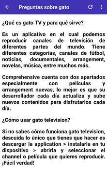 Gratis Gato TV  Latino for Android info screenshot 2