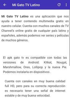 Gratis Gato TV  Latino for Android info screenshot 4
