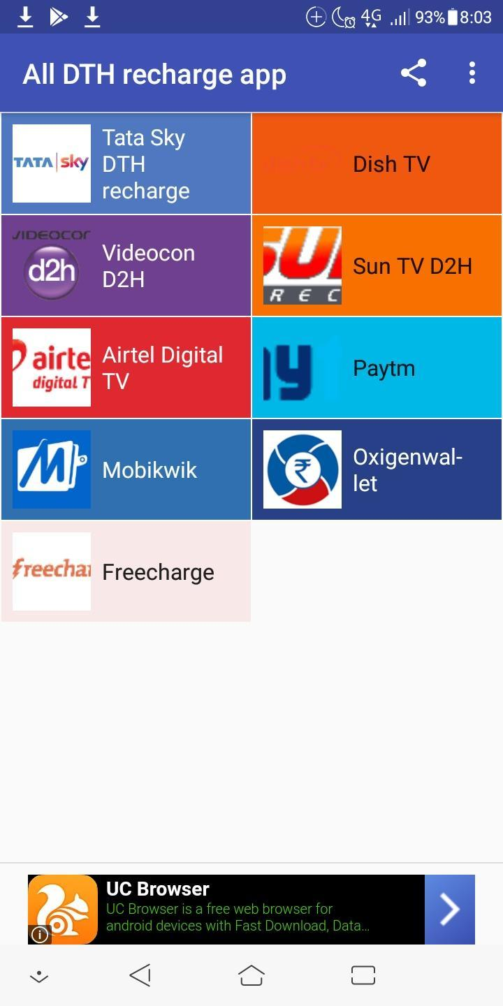All DTH recharge app for Android - APK Download