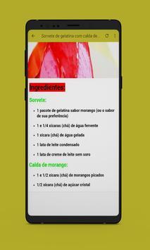 Receitas de Sorvetes Caseiros screenshot 5
