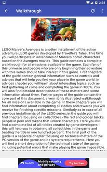 Guide game for LEGO Marvel's Avengers screenshot 12