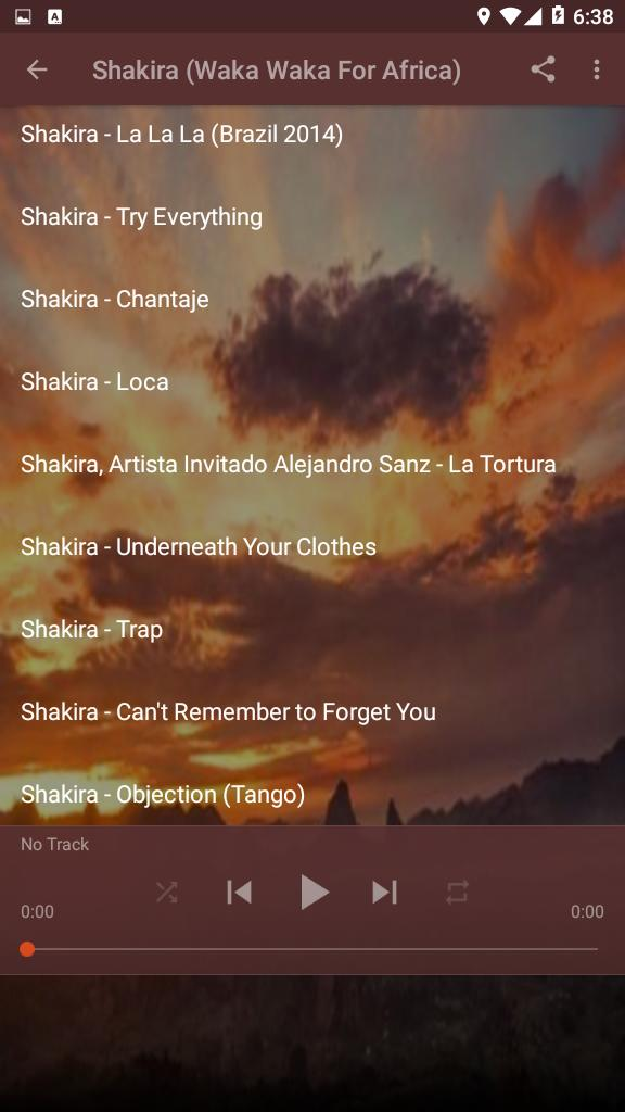 Shakira This Time For Africa Waka Waka Songs For Android Apk Download