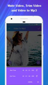 Video to Mp3 : Mute Video /Trim Video/Cut Video screenshot 3