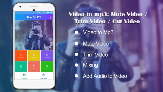 Video to Mp3 : Mute Video /Trim Video/Cut Video poster