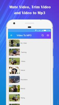 Video to Mp3 : Mute Video /Trim Video/Cut Video screenshot 1