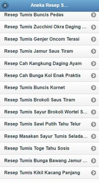 "Resep Sayur Tumis ""PILIHAN"" OK screenshot 10"