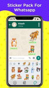 WAStickers - Cute Animal Stickers screenshot 3