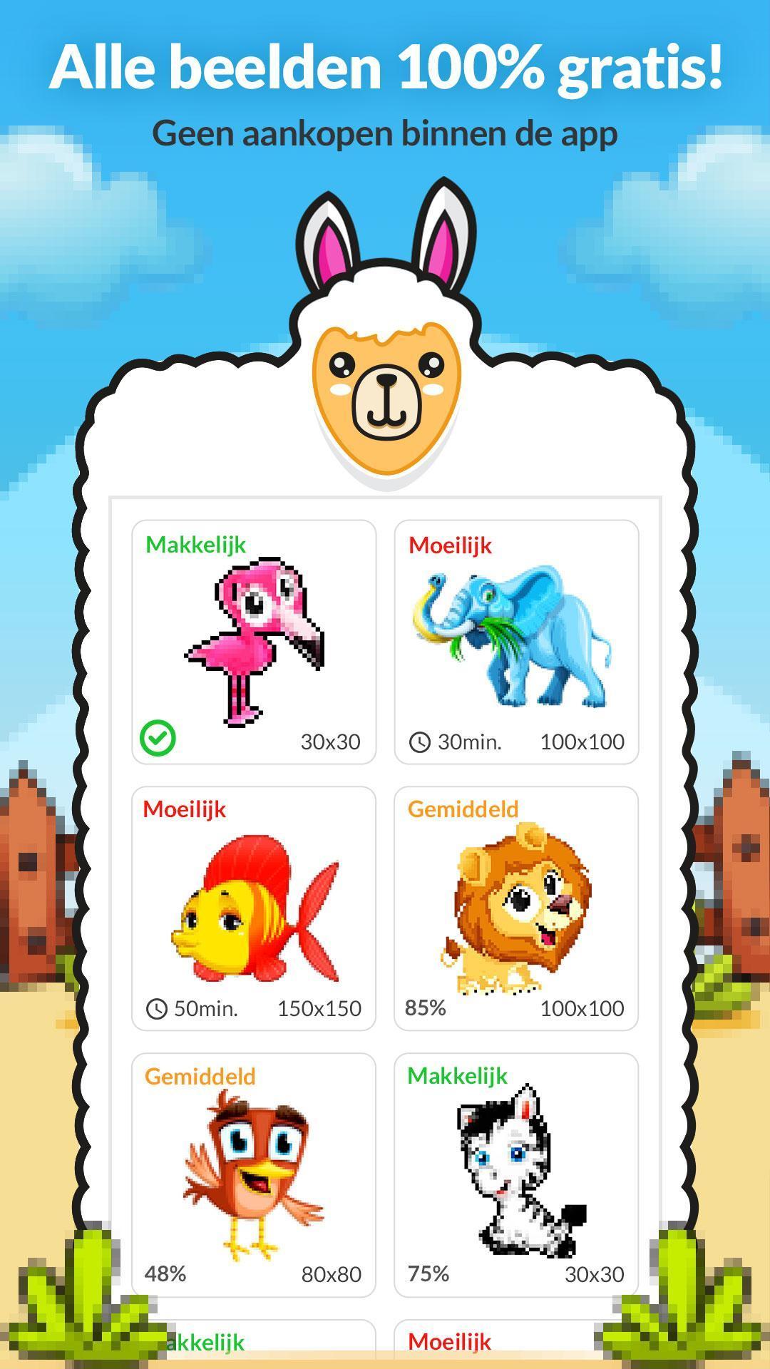 Nieuw Kleuren op Nummer Dieren Kleurplaat for Android - APK Download WL-49