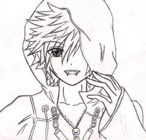 Рисунки аниме для срисовки вампиры