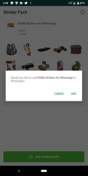 PUBG Stickers for WhatsApp captura de pantalla 1