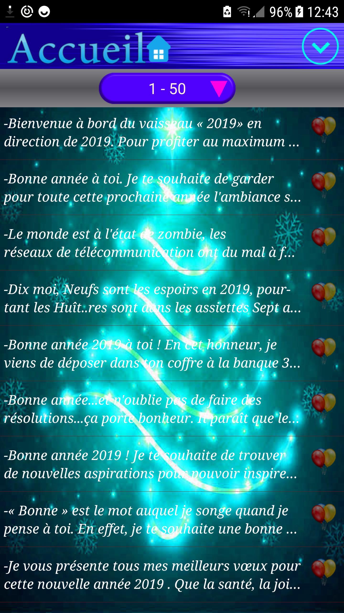Sms Bonne Année 2019 Quotes Et Vœux For Android Apk Download