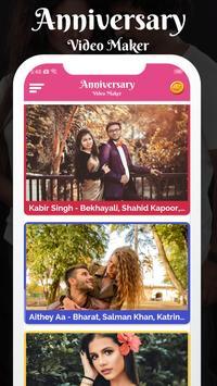 Anniversary Love Photo Effect Video Maker poster