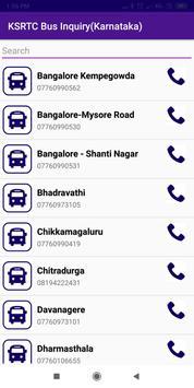 KSRTC Bus Inquiry(Karnataka) screenshot 1
