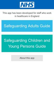NHS Safeguarding Guide poster