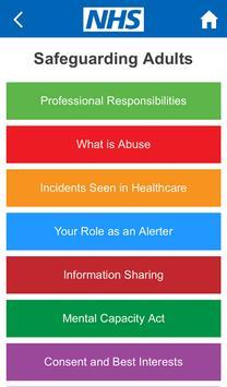 NHS Safeguarding Guide screenshot 1
