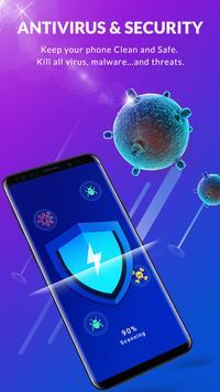 फ़्री एंटीवायरस - एप्लिकेशन का ताला, स्पेस क्लीनर पोस्टर