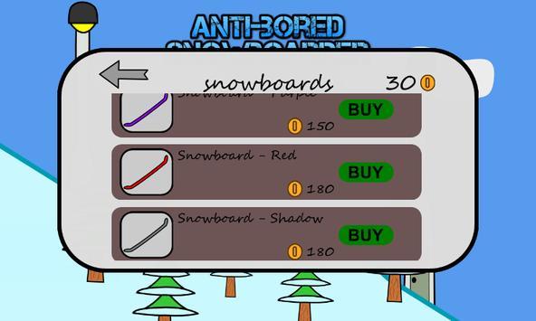 Antibored Snowboarder تصوير الشاشة 3