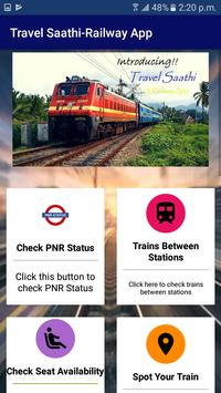 TravelSaathi-A Indian Railway App screenshot 1