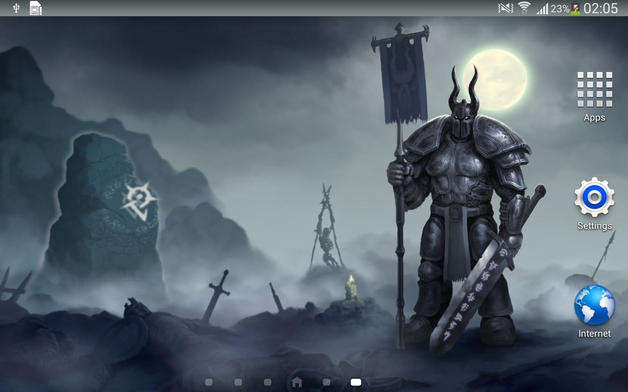 Knight Dark Fantasy Live Wallpaper Art Best Hd Lwp For Android