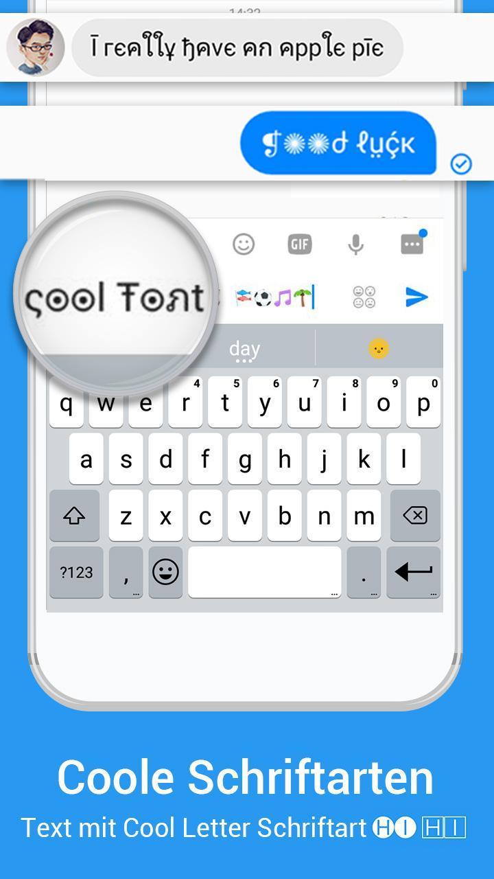 Emoji Tastatur Imore Coole Schriftart Gif Themen Für