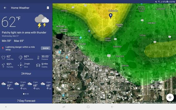رادار الطقس المباشر والتوقعات تصوير الشاشة 14