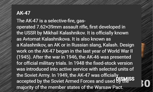 AK-47 Simulation and Info screenshot 1