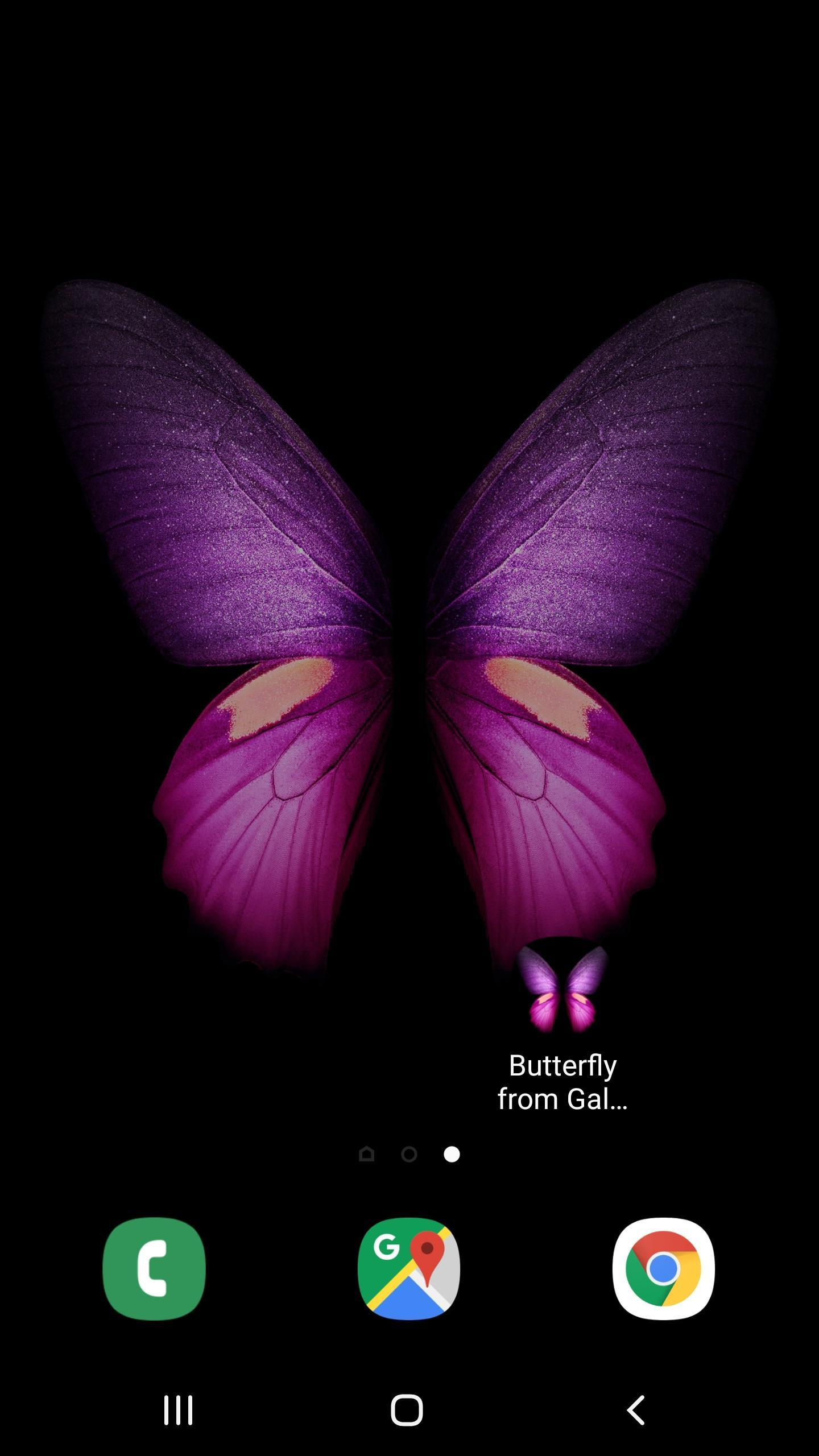 Butterfly From Galaxy Fold Wallpaper For Android Apk Download