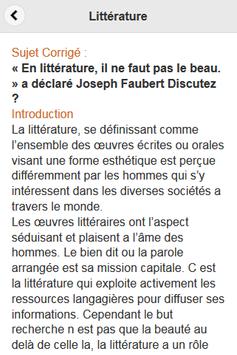 Littérature - Dissertation screenshot 1