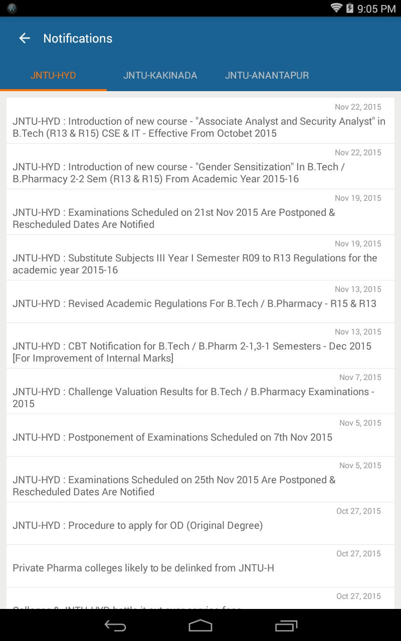 University Updates for Android - APK Download