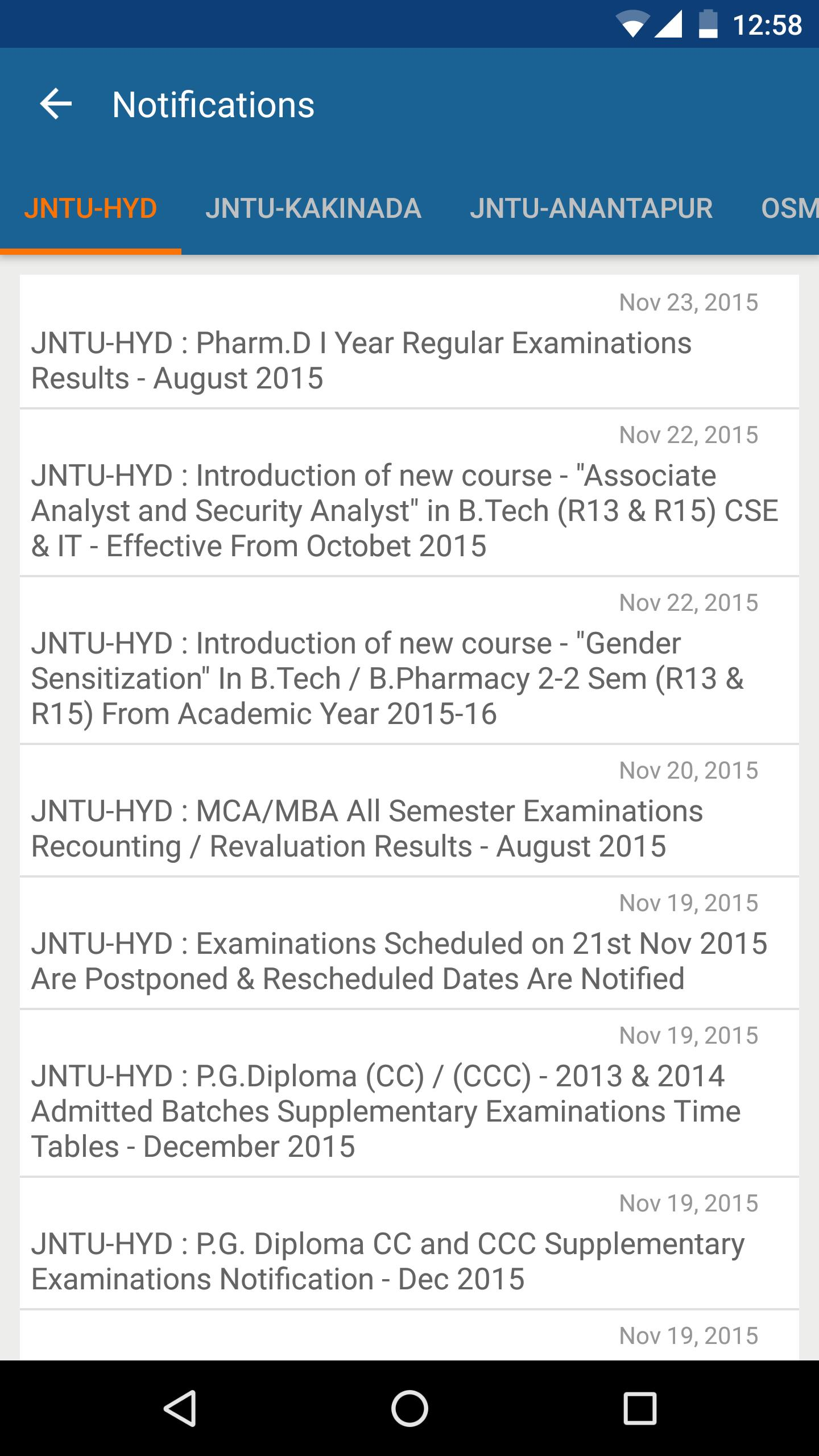 Mba 2014 notifications