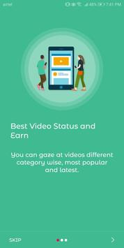 Best Vidstatus- WhatsApp, FB, IG - Earn money screenshot 1